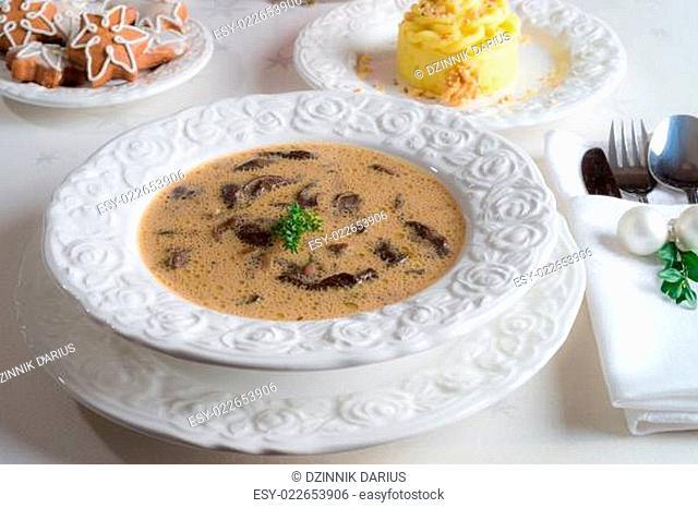 Christmas mushroom soup