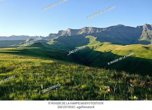 Drakensberg scene. Ukhahlamba Drakensberg Park. KwaZulu Natal. South Africa