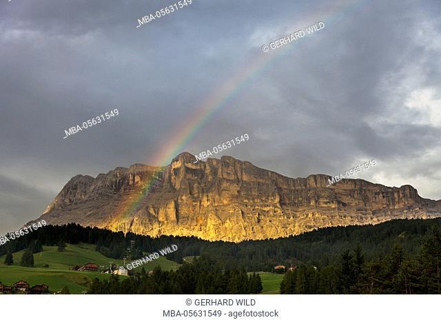 Sas dla Crusc, St. Leonhard close Abtei, 'Gruppo di Fanis' (mountains), Val Badia, Dolomites, South Tyrol, Italy, Europe