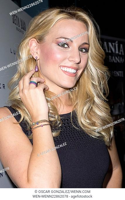 Spanish singer Edurne presents the latest collection of Luxenter jewelry in Madrid Featuring: Edurne Where: Madrid, Spain When: 11 Sep 2015 Credit: Oscar...