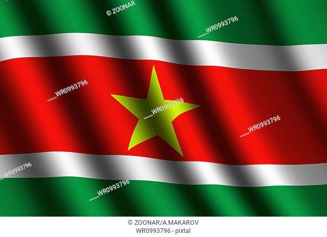 The Surinam flag