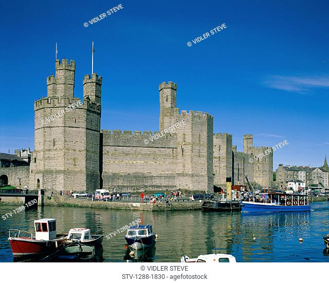 Boats, Caernarfon, Castle, Fortress, Gwynedd, Holiday, Landmark, Medieval, Strength, Strong, Tourism, Tourists, Towers, Travel