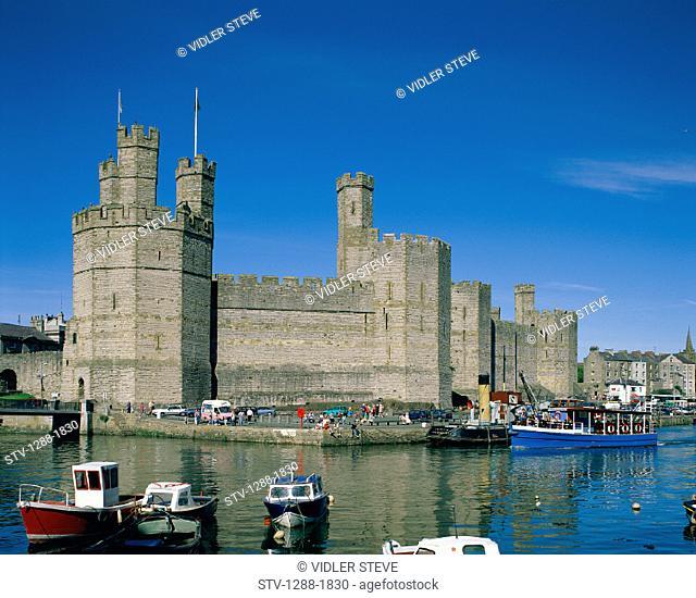Boats, Caernarfon, Castle, Fortress, Gwynedd, Holiday, Landmark, Medieval, Strength, Strong, Tourism, Tourists, Towers, Travel