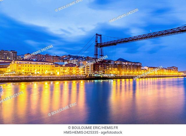 Spain, Basque Country, Portugalete, Transporter Bridge by Ferdinand Arnodin, listed as World Heritage by UNESCO