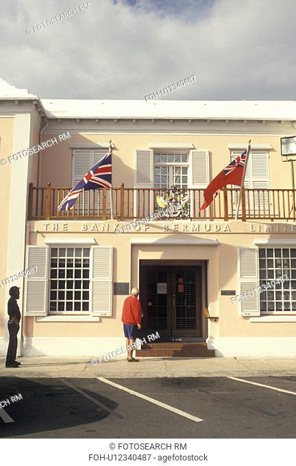 Bermuda, St. George's Parish, Bank of Bermuda in King's Square in St George in Bermuda.