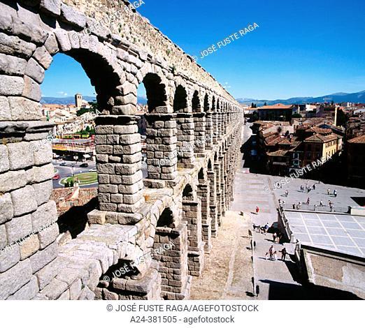 Roman aqueduct, Segovia. Castilla-León, Spain