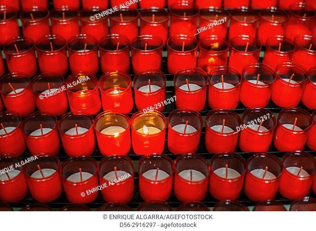 Candles in a church, Salamanca, Spain