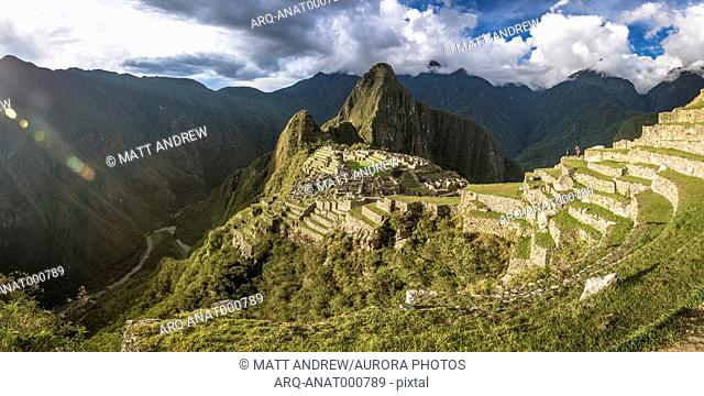 Machu Picchu, 15th-century Inca citadel situated on mountain, Cusco Region, Peru
