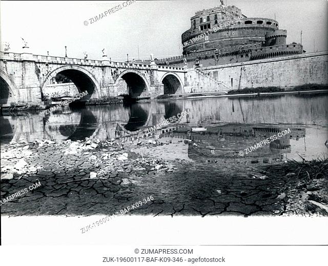 Apr. 18, 2012 - It does not rain since 60 days and the Tiber is in drought: Photo shows View of the Tiber near Ponte Sant's Angelo