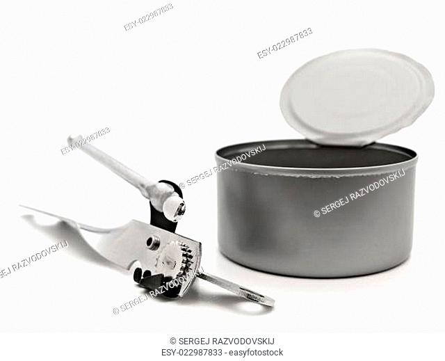 tin with opener