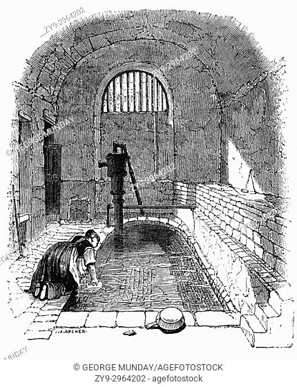 """The so-called """"""""Roman Baths"""""""" in Strand Lane, London are in fact the remaining portion of a cistern built in 1612 to feed a fountain in the gardens of the old..."""