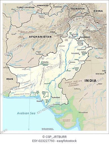Pakistan Physiography map