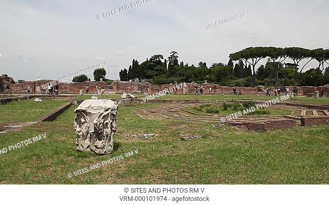 Daylight, PAN, view from the south. Domitian's palace was designed by the architect Rabirius and built in 81-92 AD. Domus Flavia was the public section of the...