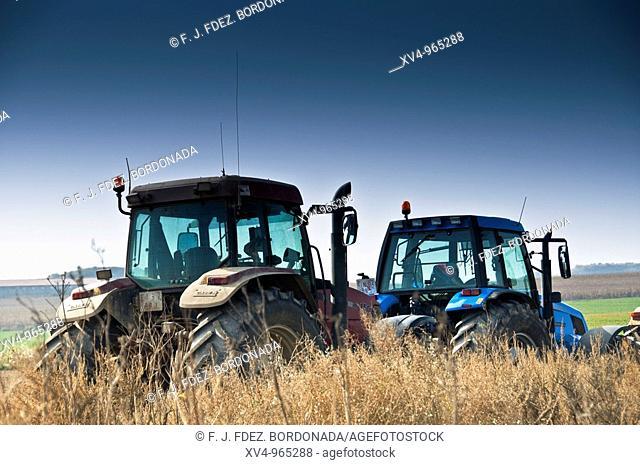 Farmer strike in Monegros, Spain
