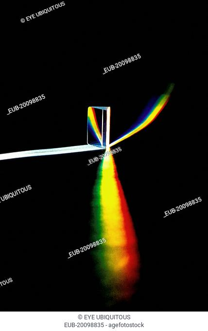 Light refracted through prism showing full spectrum of colour