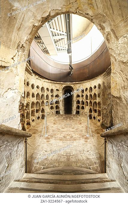 Catagena, Spain - September 14th, 2018: Funeral Crypt belonging to the hermitage of Saint Joseph, built during the XVI century, Cartagena, Spain
