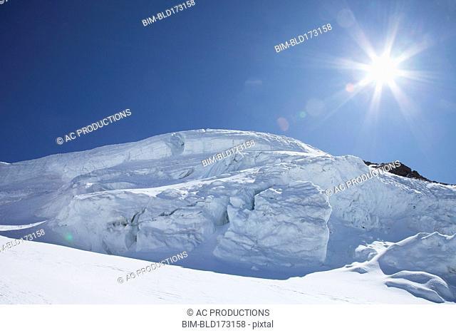 Sunshine over snow drift