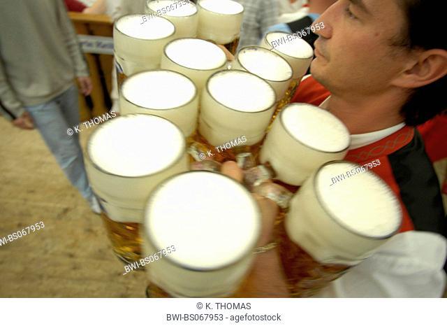 Oktober Beer Festival Munich 2004, Germany, Bavaria, Munich