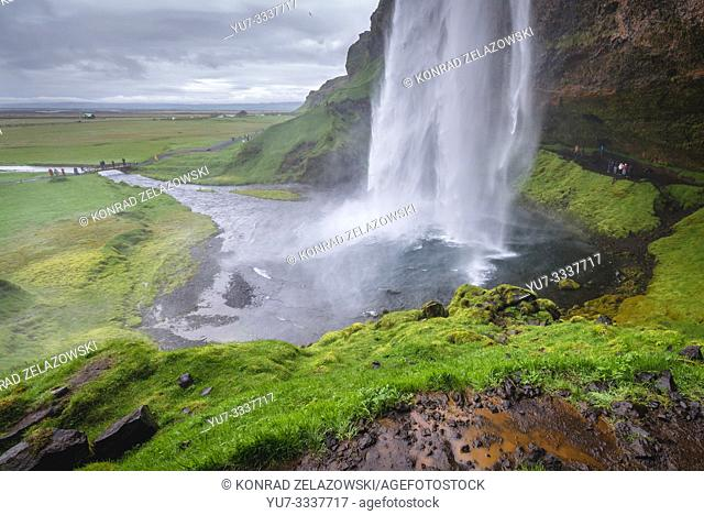 Seljalandsfoss waterfall in South Region of Iceland