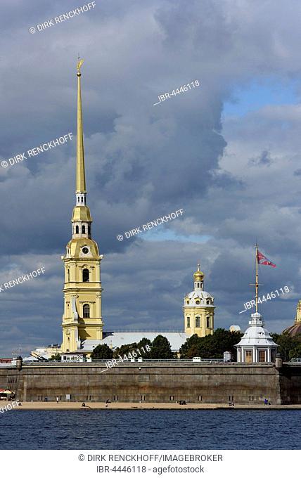 Peter and Paul Fortress, Zayachy Island, Saint Petersburg, Russia