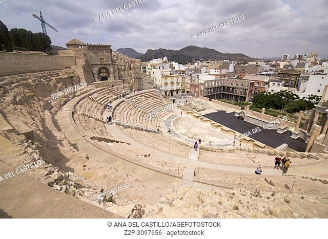 The Roman Theatre in Cartagena, Spain on June 4, 2017