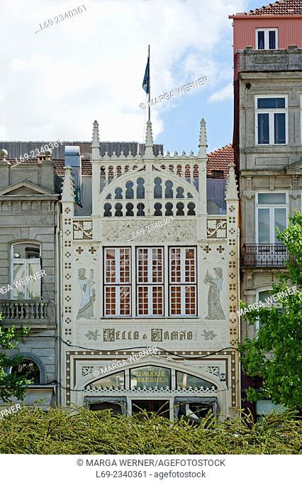 Livraria Lello & Irmão, Lello bookstore, Rua das Carmelitas, one of the most beautiful bookshops of the world, Porto, Portugal, Europe