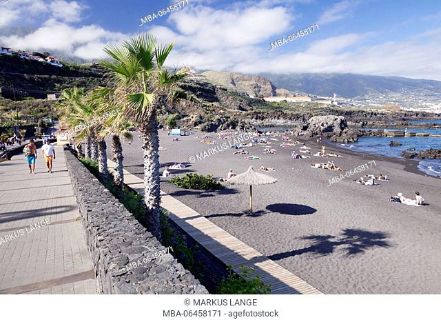 Beach of batch Cancajos, La Palma, Canary islands, Spain