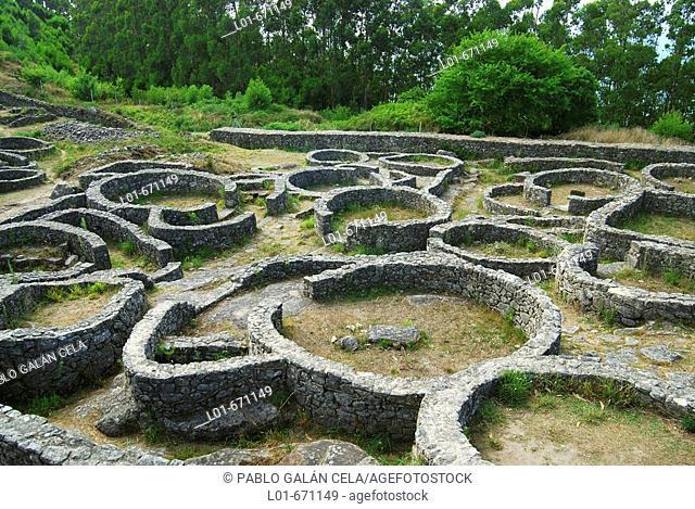 'Castro' (old fortified settlement) of Santa Tecla. Pontevedra province. Galicia. Spain