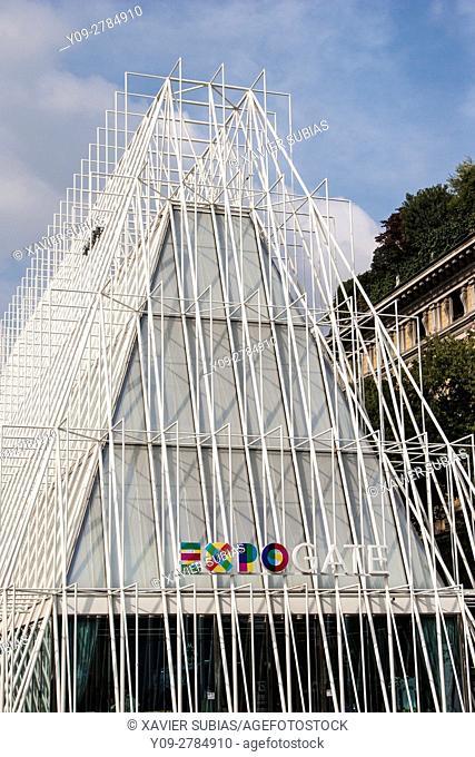 Cairoli Metro Station, Milan, Lombardy, Italy