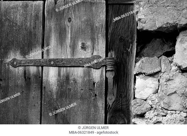 Detailed view of an old door