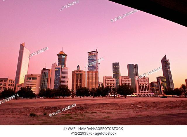 Panoramic view of Kuwait city Skyline