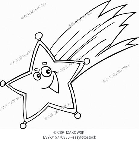 christmas star for coloring book