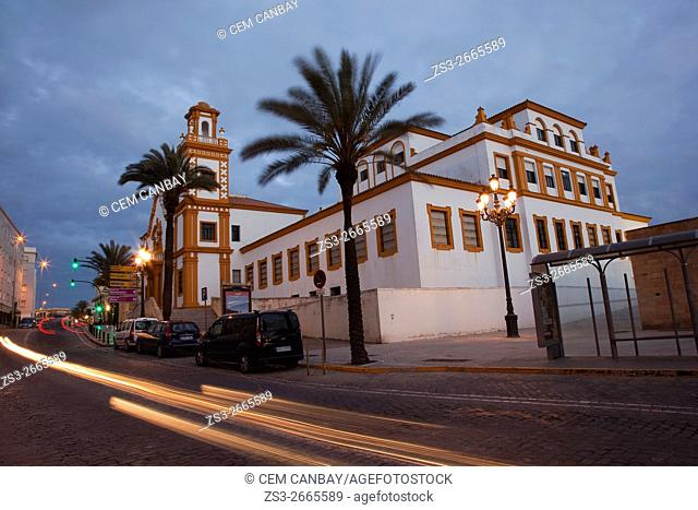 Edificio de Colegio de Educacion Infantil y Primaria in Campo del Sur Avenue, Atlantic Ocean, Cádiz City, Andalusia, Spain, Europe