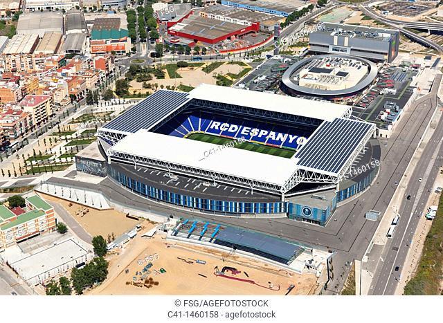 RCD Espanyol soccer stadium, Cornellà de Llobregat, Barcelona province, Catalonia, Spain