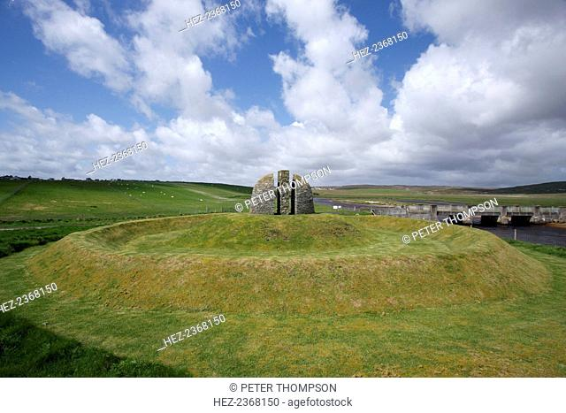 Memorial Cairn to the Grias and Coll Raiders, Isle of Lewis, Outer Hebrides, Scotland, 2009