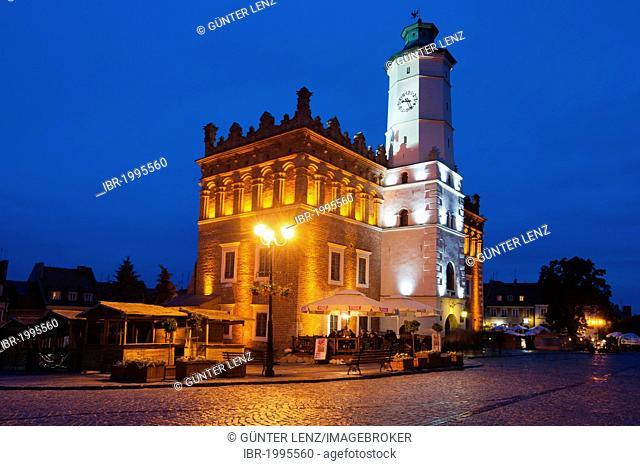 Town hall, Sandomierz, Swietokrzyskie province, Poland, Europe