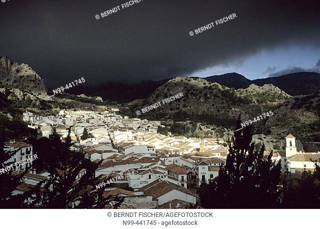 Thunderstorm over Grazalema. Cádiz province, Andalusia. Spain