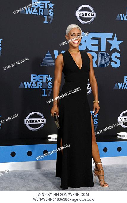 BET Awards 2017 at the Microsoft Theater on June 25, 2017 in Los Angeles, CA Featuring: Sibley Scoles Where: Los Angeles, California