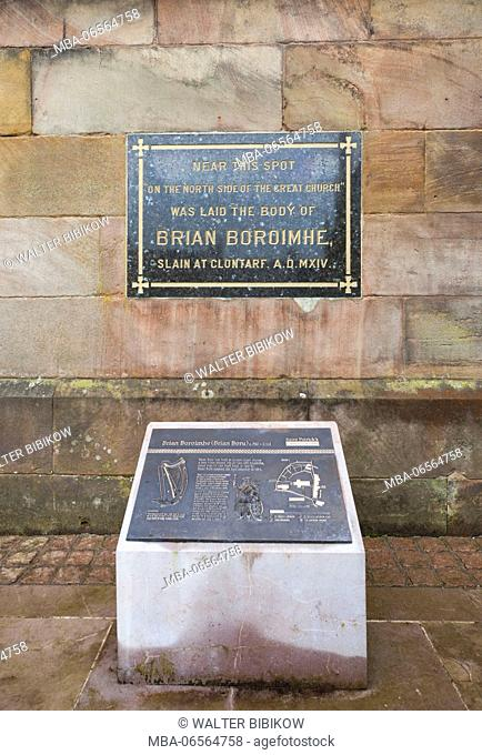 UK, Northern Ireland, County Armagh, Armagh, St. Patrick's Church of Ireland Cathedral, burial place if Brian Boru, high king of Ireland, 941-1014 AD