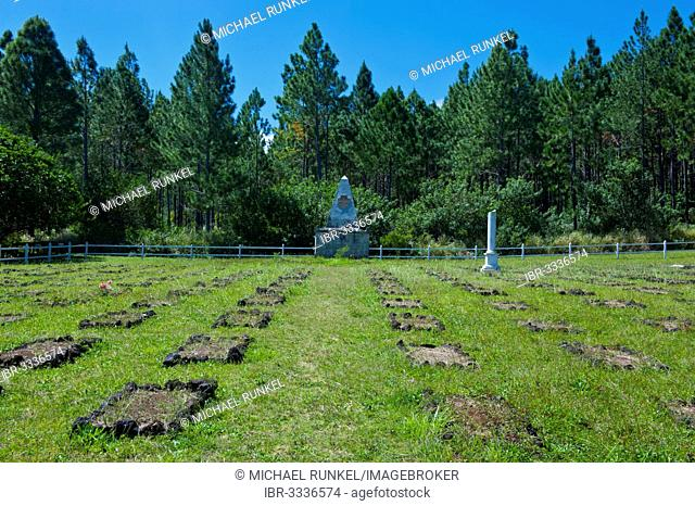 World War cemetery, Île des Pins, New Caledonia, France