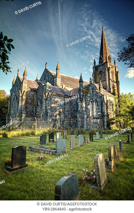 Church of St. John the Baptist located in Slebech, near Haverfordwest, Pembrokeshire, Wales, UK