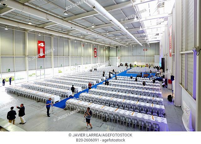 Waitresses. Dining room for 1,500 people. Ficoba, Basque Coast International Fair. Irun. Gipuzkoa. Basque Country. Spain