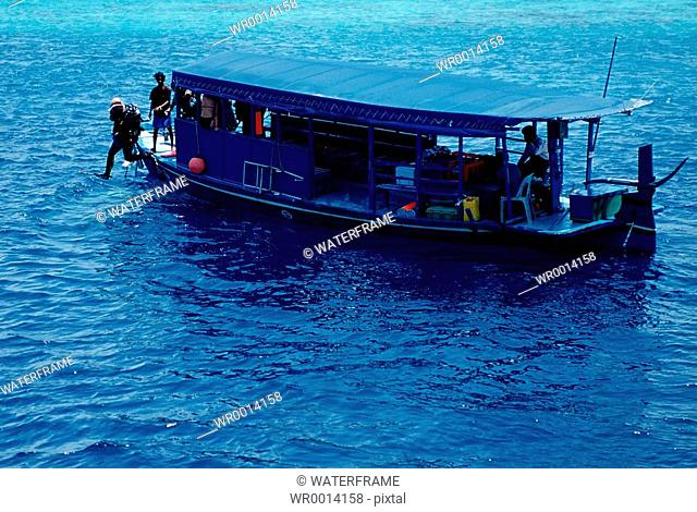 Dhoni, Diving Boat, Indian Ocean, Maldives Island