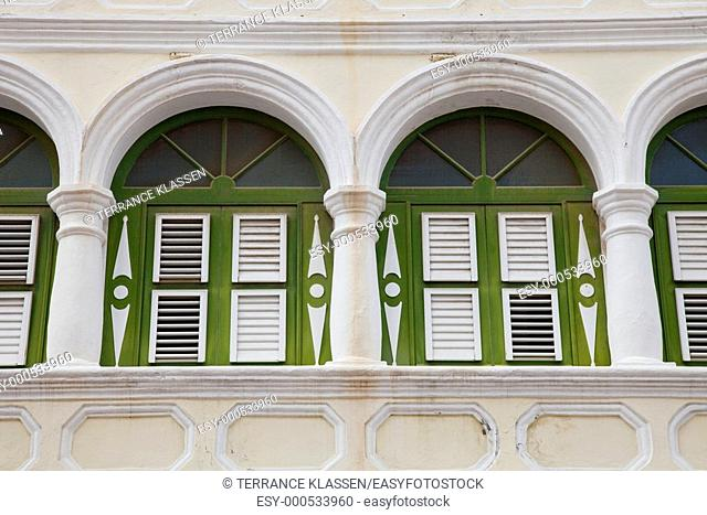 Dutch colonial architecture in Willemstad, Curacao, Netherland Antilles