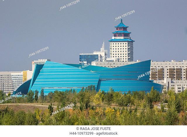 Administrative, Astana, Auditorium, building, City, Kazakhstan, Central Asia, Manfredi, New, State, Summer, architect, architecture, colourful, touristic