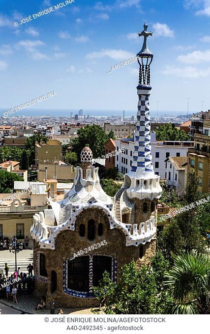 The Park Guell. Barcelona. Catalunya. Spain