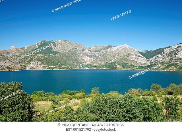 lake Barrios de Luna in Leon Spain