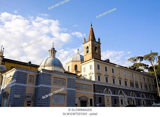 Low angle view of a church, St Maria Del Popolo Church, Rome, Italy