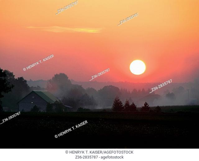 Sunset over Lesser Poland