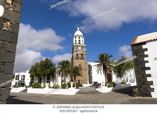 Church, Iglesia de Nuestra Senora de Guadalupe. Teguise, Lanzarote Island, Canary Islands. Spain Europe